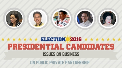 Presidential Assessment for May 2016 Elections | Issues on Business: Public Private Partnership