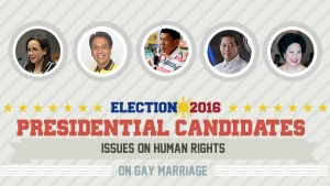 Presidential Assessment for May 2016 Elections | Issues on Human Rights: Gay Marriage