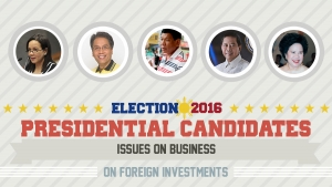 Presidential Assessment for May 2016 Elections | Issues on Business: Foreign Investments