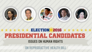 Presidential Assessment for May 2016 Elections | Issues on Human Rights: Reproductive Health Bill